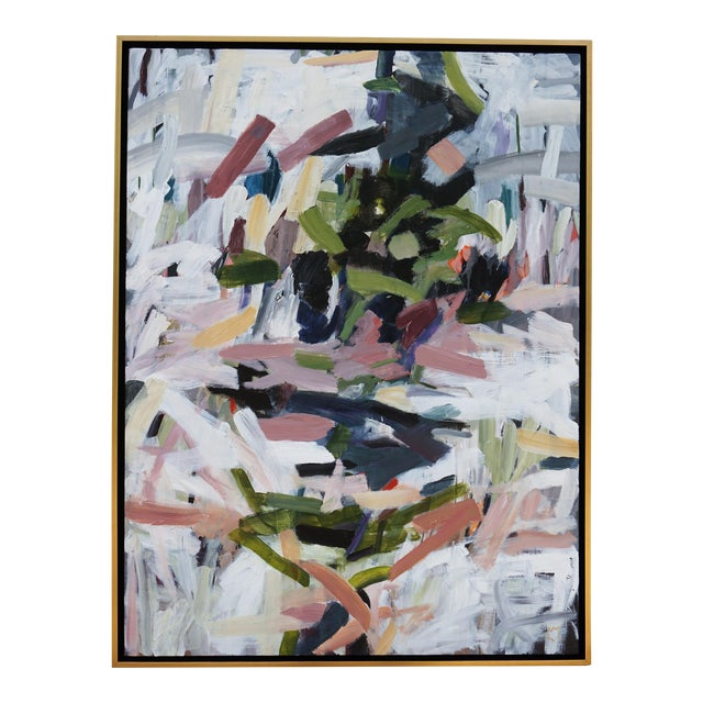 """Abstract Laurie MacMillan """"Opposites Attract"""" Painting For Sale"""