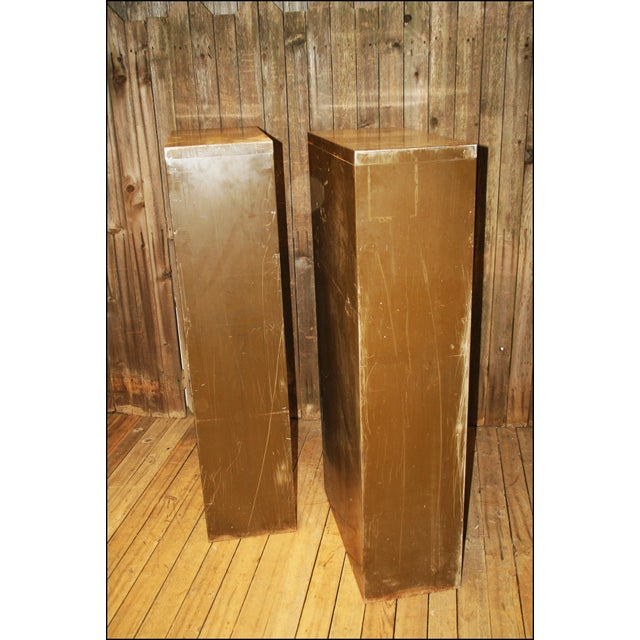 Vintage Industrial Metal Filing Cabinets - Pair - Image 11 of 11