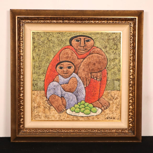 Mexican Style Oil Painting - Image 2 of 11