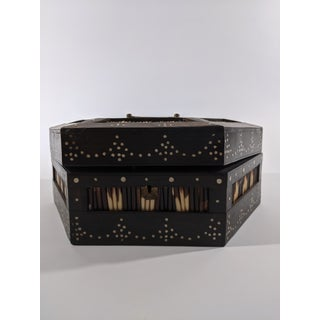 British Colonial Anglo-Indian Antique Porcupine Quill Box Preview
