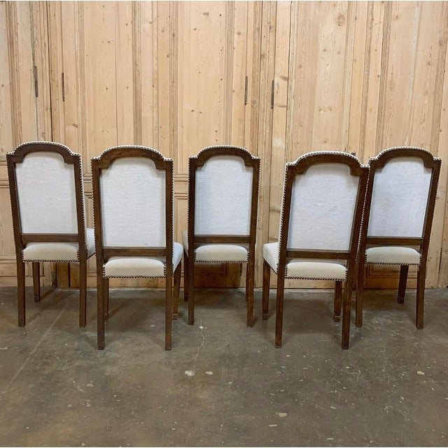 Vintage Mid Century Neoclassical Dining Chairs- Set of 10 For Sale - Image 12 of 13