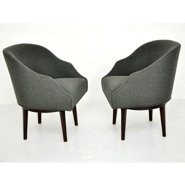 Dunbar Swivel Lounge Chairs by Edward Wormley - Image 3 of 9