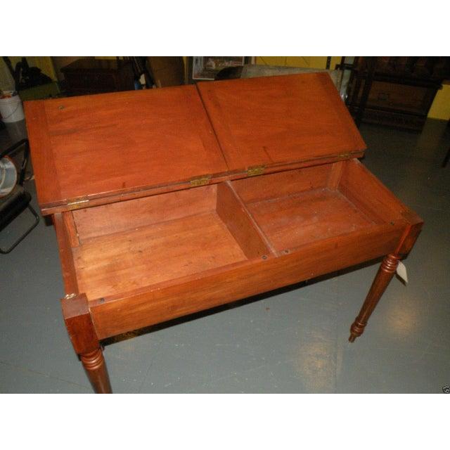 Antique Primitive Cherry Desk - Image 5 of 8