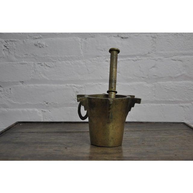 "A Fantastic antique Ottoman Turkish Heavy Bronze Mortar and Pestle. Dimensions: W 6"" x D 6"" x H 4"" Source of origin:..."