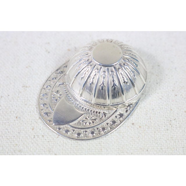 Late 19th Century Late 19th Century English Sterling Silver Jockey Hat Caddy Spoon For Sale - Image 5 of 5