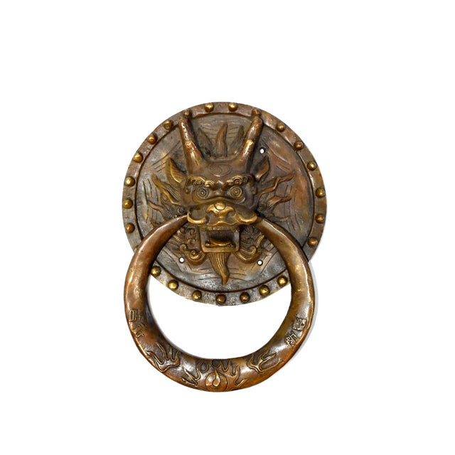 Our brass knockers can be used as door knockers or hand towel rings. Fine craftsmanship depicts the ancient mythical...