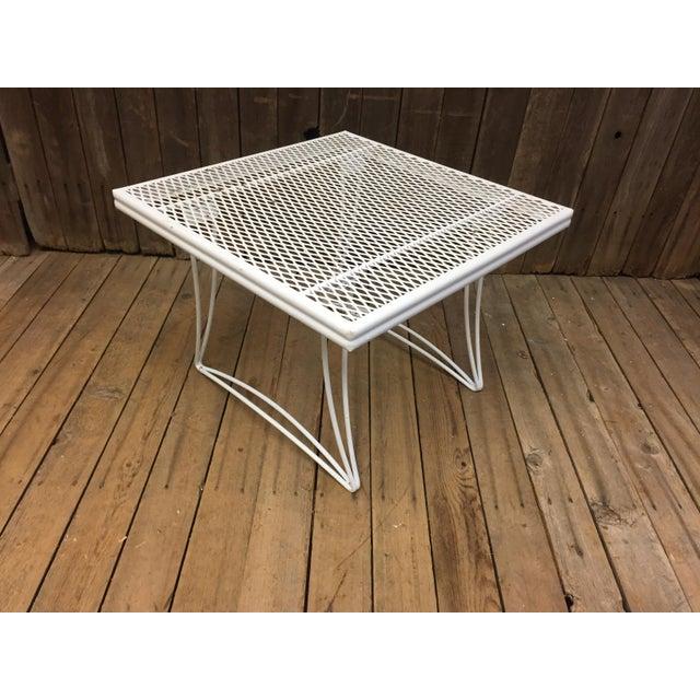 Mid Century Modern White Homecrest Side Table - Image 9 of 11