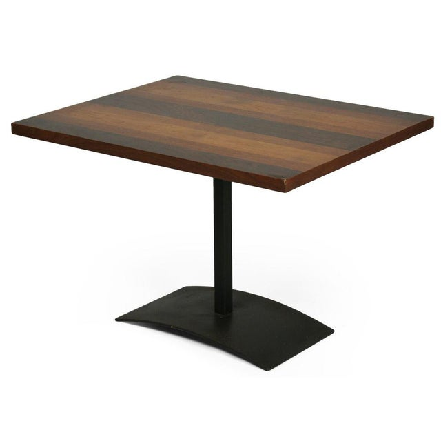 Mid-Century Modern Milo Baughman Rosewood & Black Iron Occasional Table For Sale - Image 3 of 7