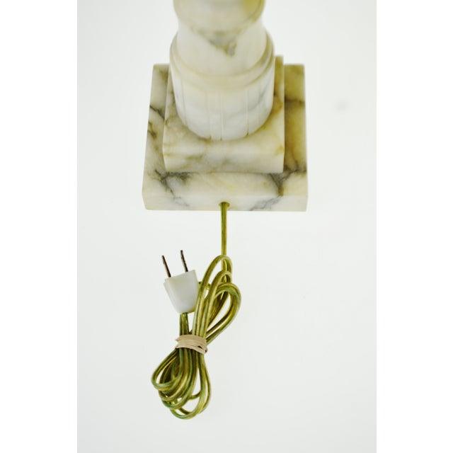 Vintage Carved Alabaster Table Lamp - Image 9 of 10