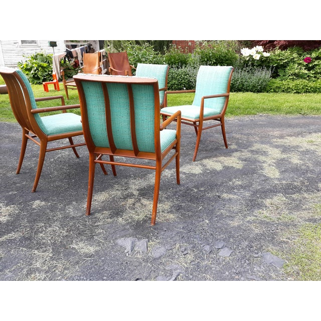 This is a set of 4, Robsjohn Gibbings designed, saber leg , armchairs from Widdicomb. They are in very good, all original,...