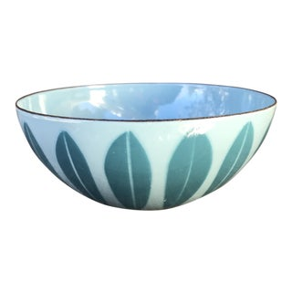 Mid-Century Modern Catherineholm Vintage Norway Lotus Blue Bowl For Sale