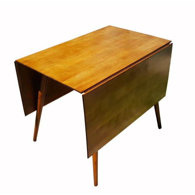 1950s Mid Century Modern Paul McCobb Planner Group Drop-Leaf Dining Table For Sale - Image 9 of 11