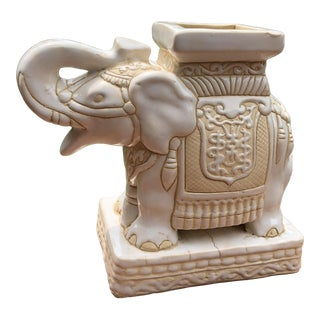 Vintage Elephant Planter For Sale