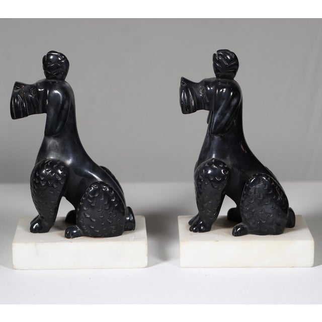 Early 20th C. Alabaster Poodle Bookends - Pair - Image 5 of 5