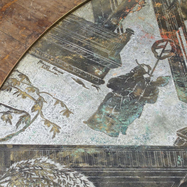 1960s Chinoiserie Kelvin LaVerne Bronze Chan Coffee Table For Sale In Washington DC - Image 6 of 8