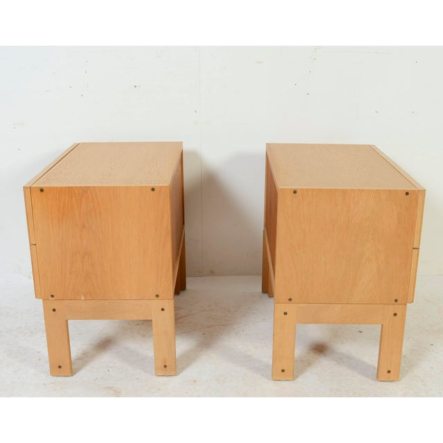 1960s 1960s Danish Modern HG Furniture Hansen Guldborg Oak Nightstands - a Pair For Sale - Image 5 of 9