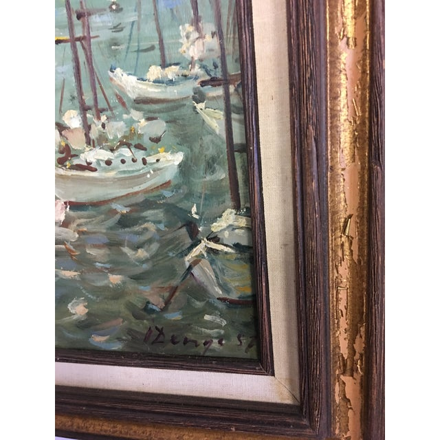 Ivan Denysenko Harbor Painting For Sale - Image 5 of 9