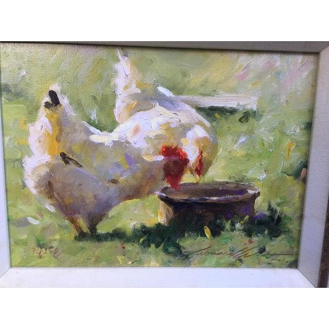 """Leonard Wren """"Spring Chickens"""" Framed For Sale - Image 4 of 8"""