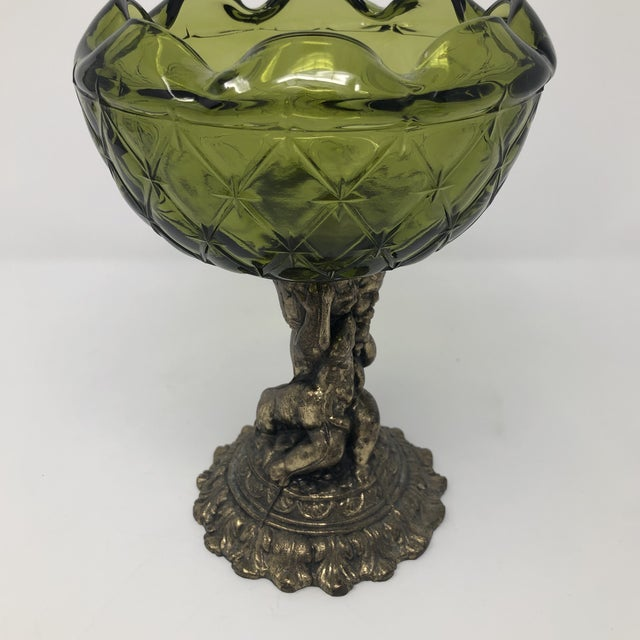 Crystal and Brass Cherub Compote Epergne For Sale In Houston - Image 6 of 8