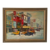 """Image of """"Broadway"""" Nyc Street Scene Painting For Sale"""