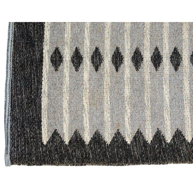 Vintage Swedish Flat-Weave Carpet - Image 7 of 7