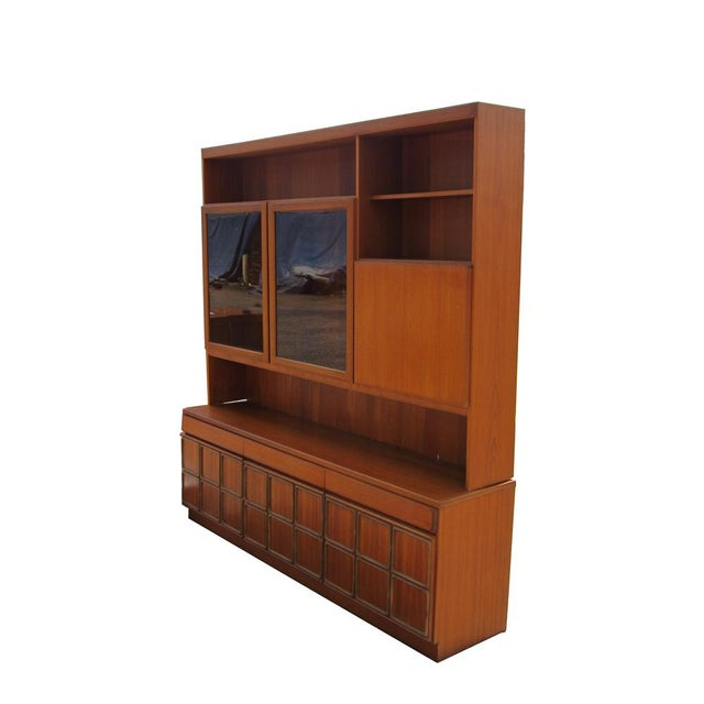 1960s Mid-Century Modern Teak Credenza With Glass Display Cabinet For Sale In Houston - Image 6 of 6