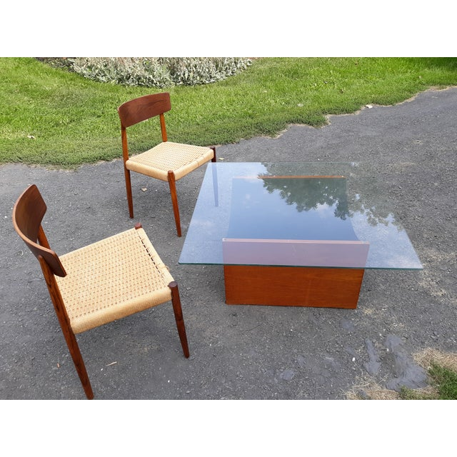 1960s Danish Modern Teak Coffee Table Base by R S Associates For Sale - Image 5 of 11