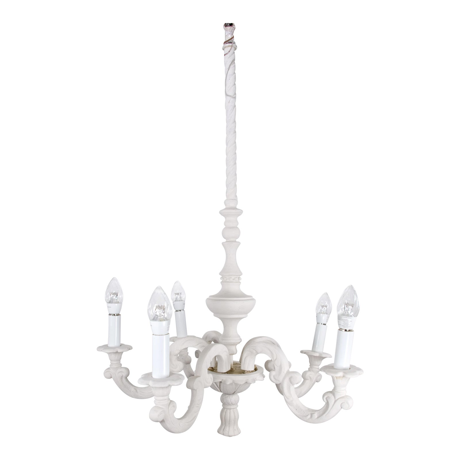 free shipping ae6e2 9ee46 1940 Mid Century Hollywood Regency Plaster Chandelier