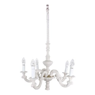 1940 Mid Century Hollywood Regency Plaster Chandelier