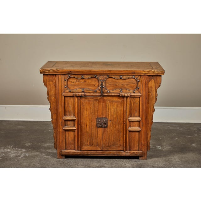 19th C. Chinese Elm Altar Cabinet For Sale In Los Angeles - Image 6 of 11