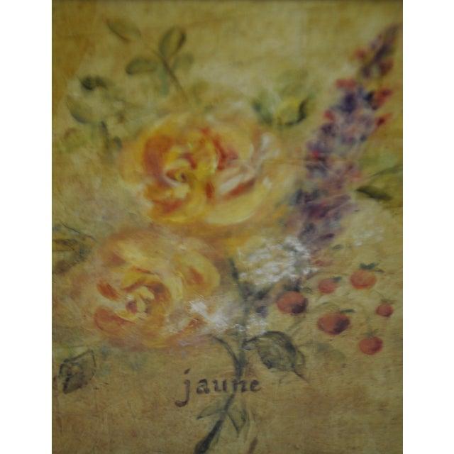White Vintage Framed French Jaune & Blanche Floral Still Life Prints For Sale - Image 8 of 13
