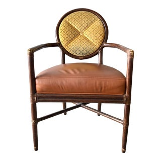 20th Century Rattan McGuire Arm Chair For Sale