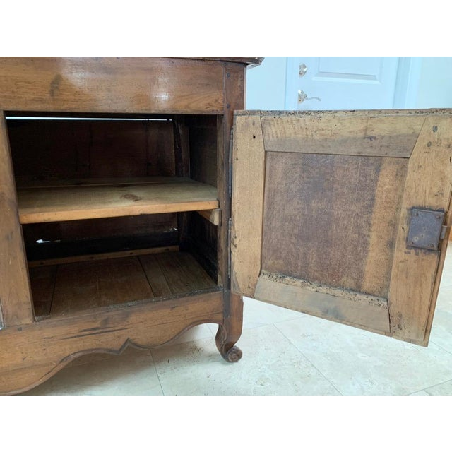 Antique Rustic French Walnut Buffet For Sale - Image 9 of 13