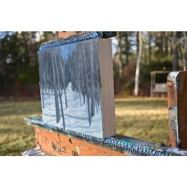 "Stephen Remick ""Moonlit Snowy Path"" Contemporary Painting For Sale In Providence - Image 6 of 8"