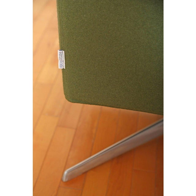 Green Mid-Century Modern Style Swivel Lounge Chair by Verzelloni For Sale - Image 8 of 9