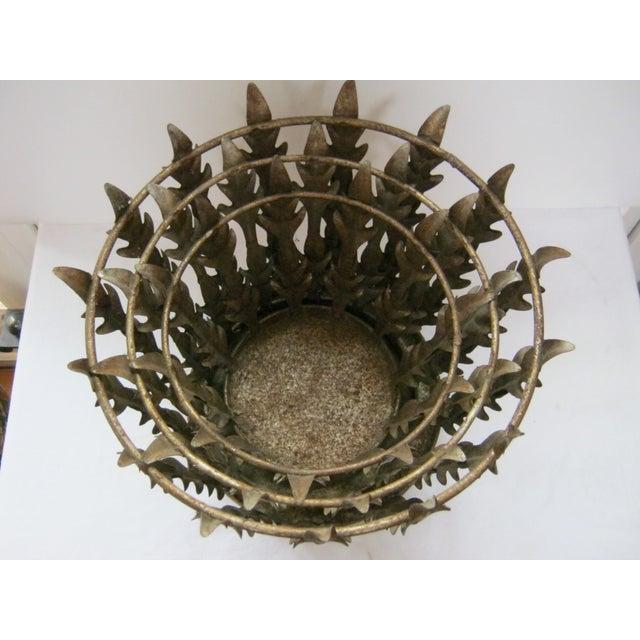 Vintage Italian Nest of 3 Acanthus Leaf Baskets - Set of 3 - Image 5 of 8