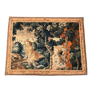 18th Century French Aubusson Tapestry With Cherubs at Play For Sale