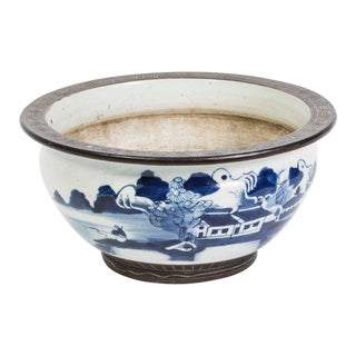 20th Century Blue and White Chinese Bowl