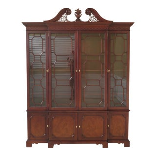 Kindel 4 Door Chippendale Mahogany Breakfront For Sale