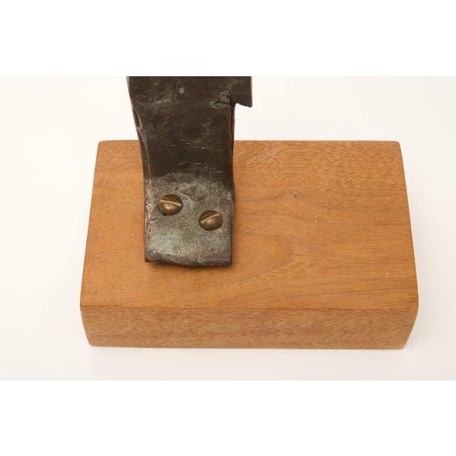 Mid-Century Modern Brutalist Bronze Sculpture of Female Torso For Sale - Image 9 of 10