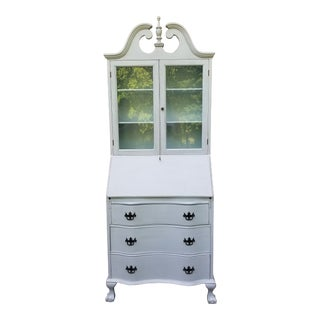 Antique Hand Painted Secretary Desk For Sale