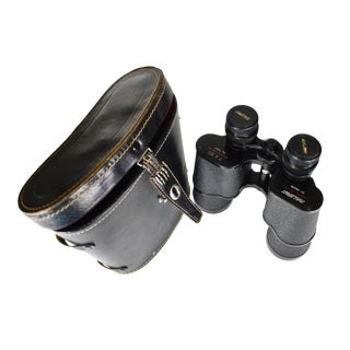 Vintage Raleigh Coated Optics 7x50 Binoculars With Hard Leather Case - a Pair For Sale
