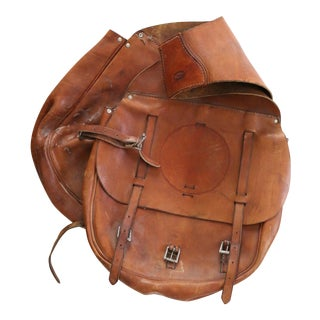 Vintage Westen Leather Saddlebags