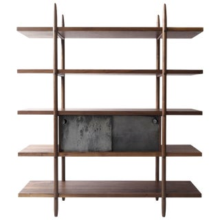 Deepstep Shelving Modular Storage With Fine Wood Detailing by Birnam Wood Studio For Sale