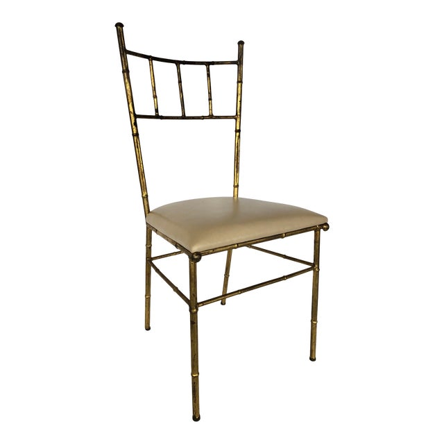 1950s Mid Century Italian Side Chair For Sale