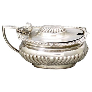 Antique English Sterling Silver Mustard Pot - Dated 1895 For Sale