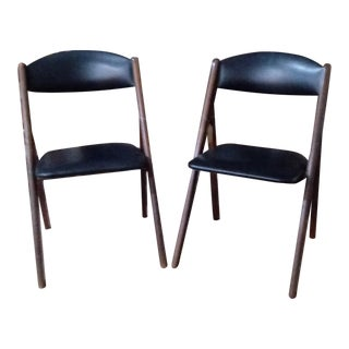 1960s Mid-Century Modern Stakmore Folding Chairs - Set of 4