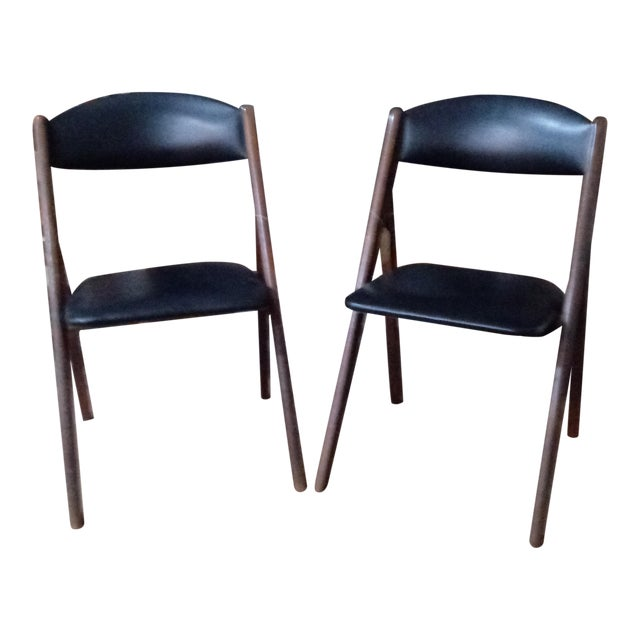 1960s Mid-Century Modern Stakmore Folding Chairs - Set of 4 For Sale