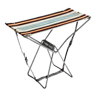Vintage Metal Frame Camp Stool