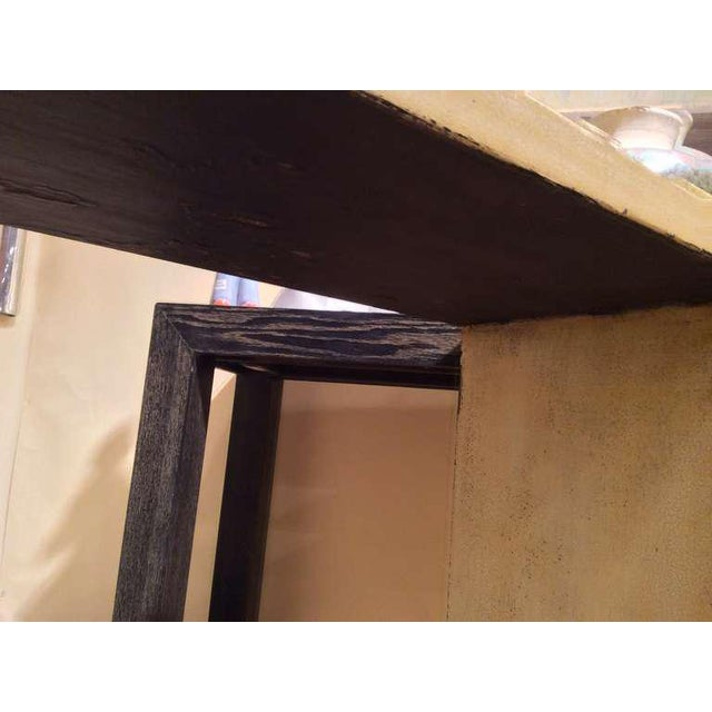 Modern Crackle Glaze Console For Sale - Image 3 of 9